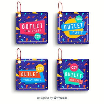 Outlet-labels-sammlung