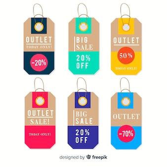 Outlet-labels-sammlung