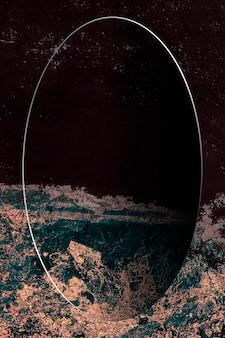 Ovaler rahmen auf abstraktem hintergrund