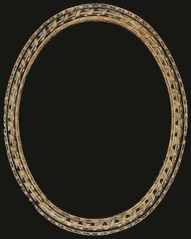 Ovaler vintage-rahmen in gold