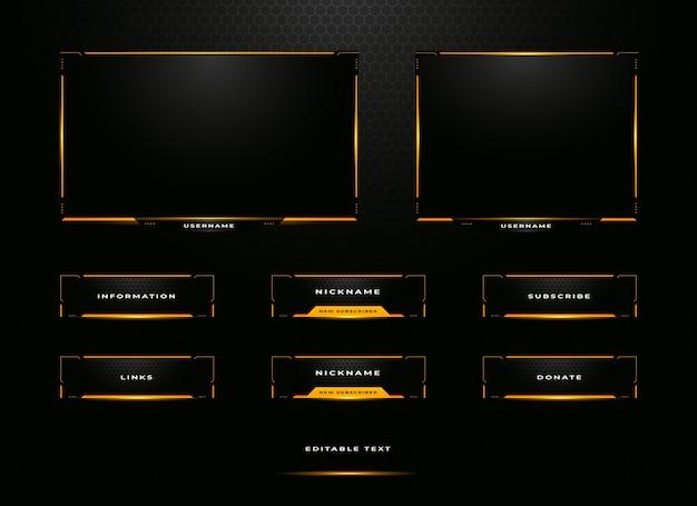 Overlay-set für zuckende streamer-panels
