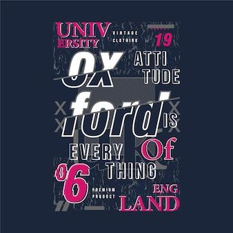 Oxford text grafik kritzeleien typografie t-shirt design