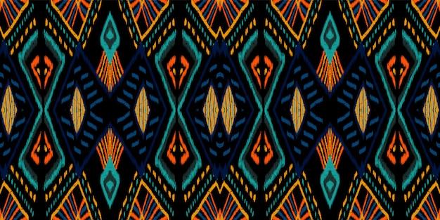 Ozean abstrakte fliese. cornflower tribal seamless pattern. japanische stammes-ogee-textur. glänzende rustikale navajo-textur. wiederholen sie chevron aztec.
