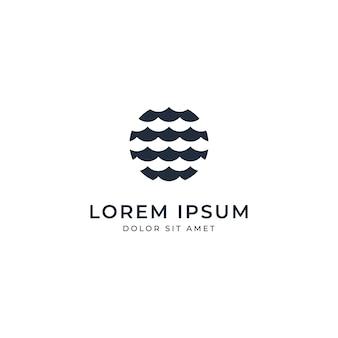Ozean-logo-vorlagen