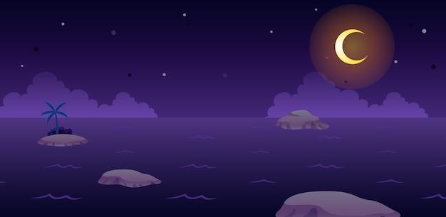 Ozean nacht spiel hintergrund