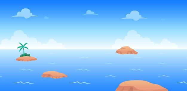Ozean tag spiel hintergrund