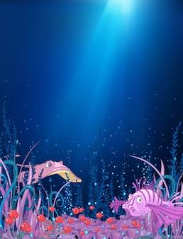 Ozean-unterwasser-cartoon