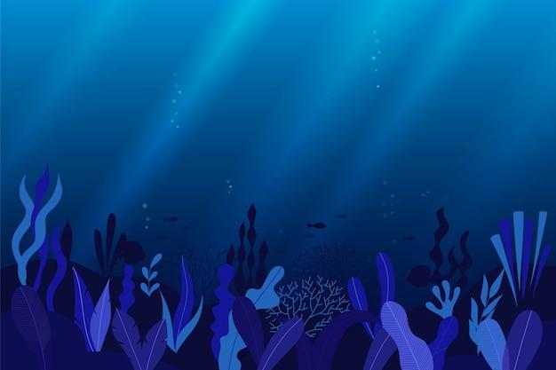 Ozean unterwasser hintergrund