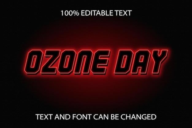 Ozone day bearbeitbarer texteffekt neon-stil