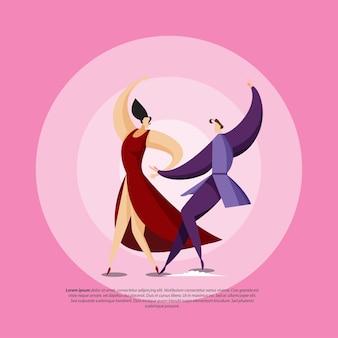 Paar-abbildung tanzen-paar