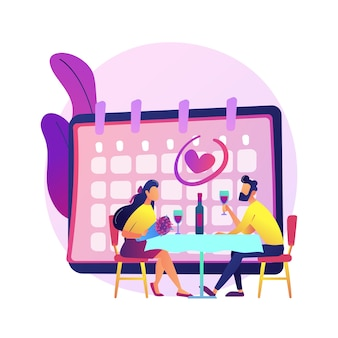Paar am romantischen date. freund und freundin trinken wein im restaurant und feiern jubiläum. dating, beziehung, valentinstag.