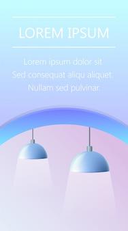 Paar blaue lampen fixture banner