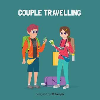 Paar geht auf eine reise