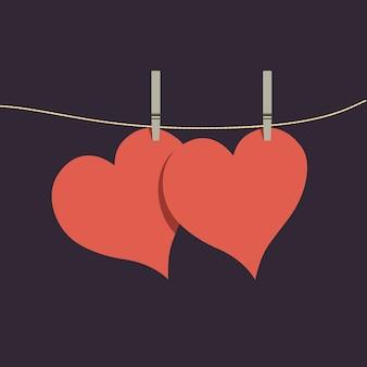 Paar herzen, valentinstag herz, schöne glückliche valentinstag