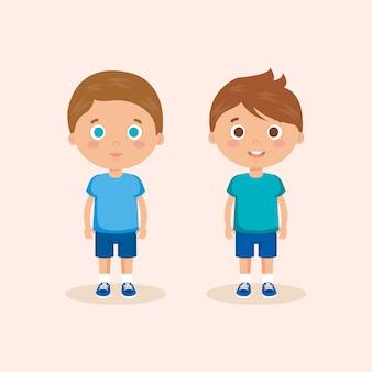 Paar kleine jungen charaktere
