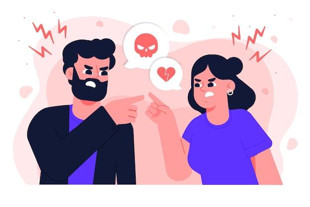 Paar konflikte illustration