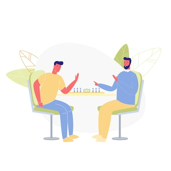 Paar männer spielen schach bac
