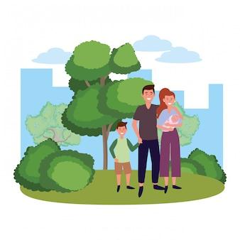 Paar mit kindern