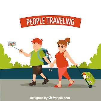 Paar reisen