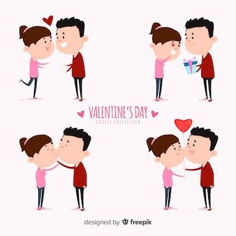Paar-sammlung zum valentinstag