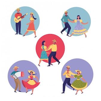 Paar tanzender cartoon