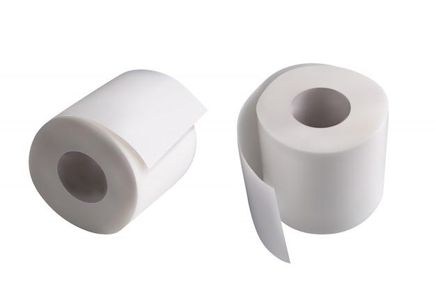 Paar toilettenpapier
