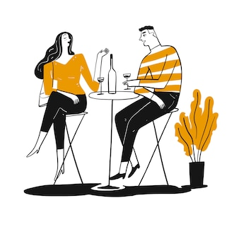 Paar trinken