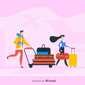 Paar unterwegs