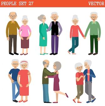 Paare älterer menschen