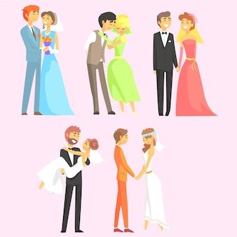 Paare heiraten