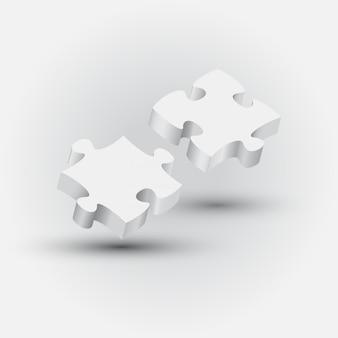 Paarpuzzlespielstück mit technologiehintergrund