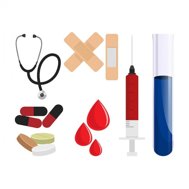 Pack / set / sammlung von medizinischen symbolen