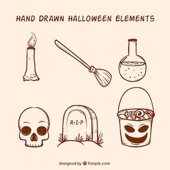 Pack von halloween-bildern
