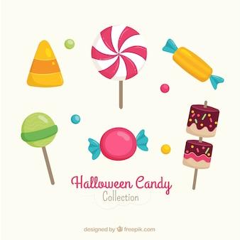 Pack von lutscher und halloween party süßigkeiten