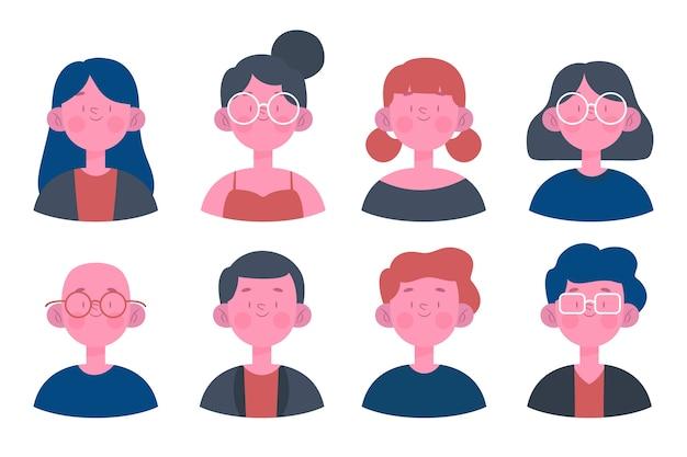 Pack von menschen avatare
