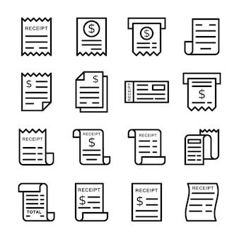 Pack von rechnungseingang icons