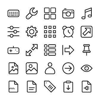Pack von user interface icons
