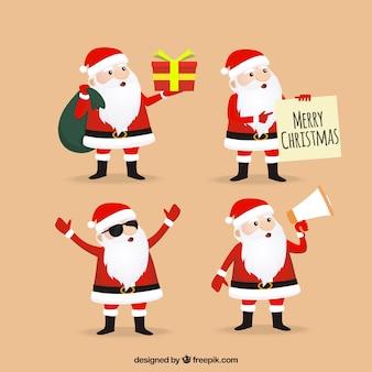Packen schönen weihnachtsmann