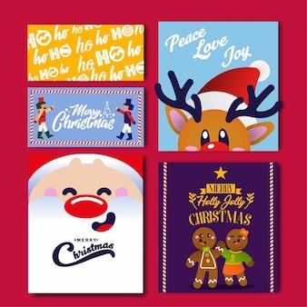 Packen sie die weihnachtskarte ein