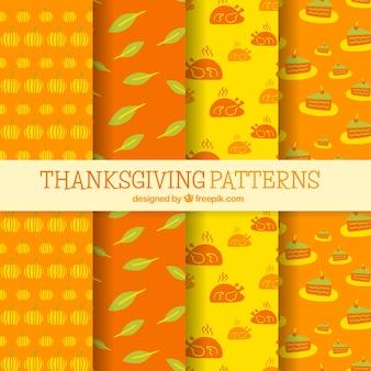 Packen sie handgezeichnete thanksgiving-muster