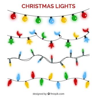 Packen sie helle weihnachtslichter