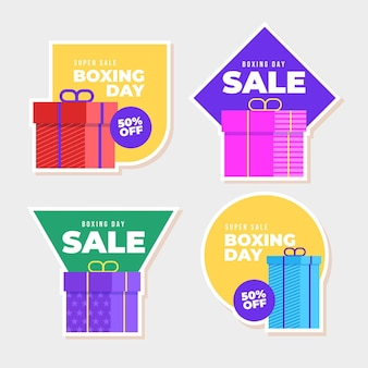 Packung boxing day sale etiketten