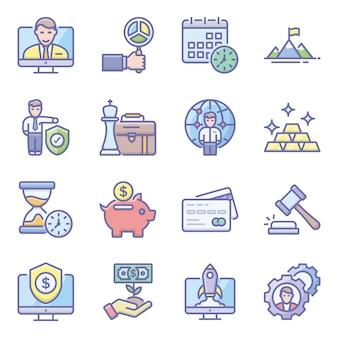 Packung business flache symbole