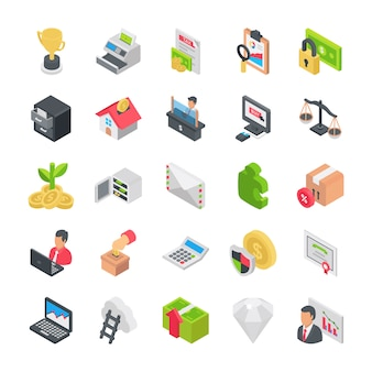 Packung business icons