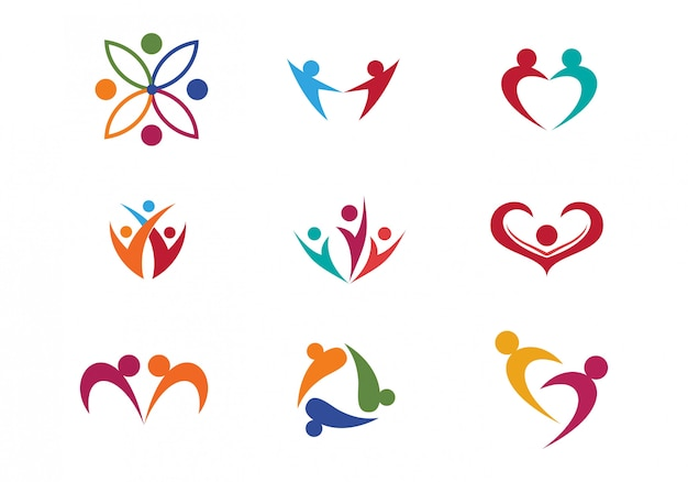 Packung des healthcare-logos / symbol design