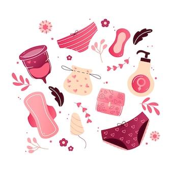 Packung für damenhygieneprodukte