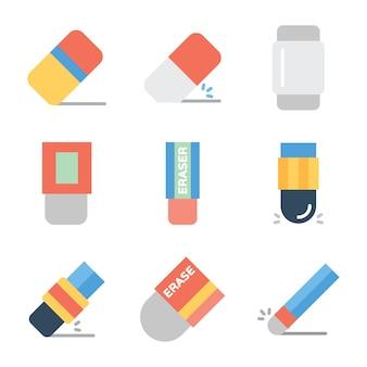 Packung gummi linie icons