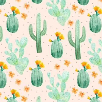 Packung kaktuspflanzenmuster
