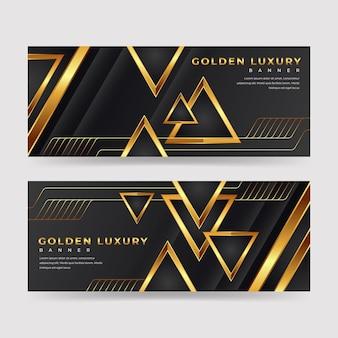 Packung luxuriöser banner mit goldenen details