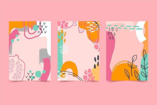 Packung mit abstrakten gezeichneten deckblättern